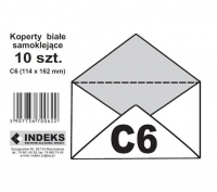 Koperta biała SK C6 10szt.