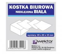 Kostka biurowa biała 85x85 3,5cm nieklejona
