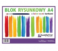 Blok rysunkowy A4 kolor 16 kartek