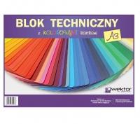Blok techniczny A3 kolor 8 kartek