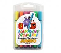Flamastry trójkątne jumbo 12 kol Fun & Joy