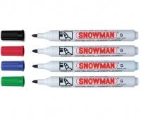 Marker permanentny  Snowmann okrągły czarny