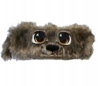 Piórnik saszetka tuba włochacz pies brąz oczy