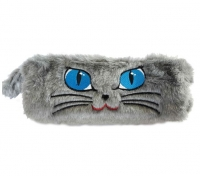 Piórnik saszetka tuba włochacz kot oczy