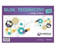 Blok techniczny A4 biały 10 kartek