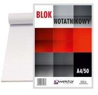 Blok biurowy w kratkę A4 50 Wektor