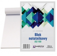 Blok biurowy w kratkę A5 100 Wektor