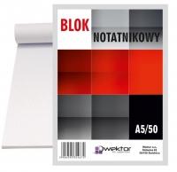 Blok biurowy w kratkę A5 50 Wektor