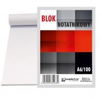 Blok biurowy w kratkę A6 100 Wektor