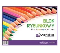 Blok rysunkowy A3 kolor 16 kartek
