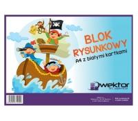 Blok rysunkowy A4 biały 20 kartek