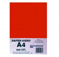 Papier ksero A4 100 intensywny czerwony