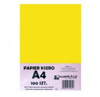 Papier ksero A4 100 intensywny żółty