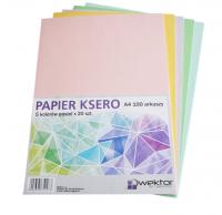Papier ksero A4 100 ark 5kol x 20 ark kolor pastel