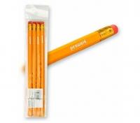 Ołówek HB żółty z gumką 4szt.