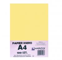 Papier ksero A4 100 pastelowy żółty