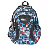 Plecak szkolny 4-komorowy Bambino Street Pixels