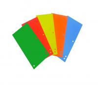 Przekładki do segregatora 1/3 A4 100 mix kolorów intensywnych
