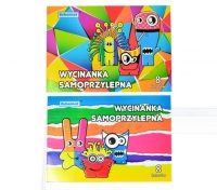 Zeszyt papierów samoprzylepnych A4 8 kolorów